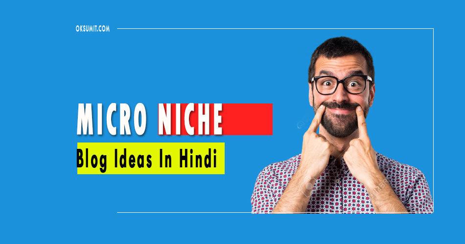 Micro Niche Blog Ideas In Hindi 2021